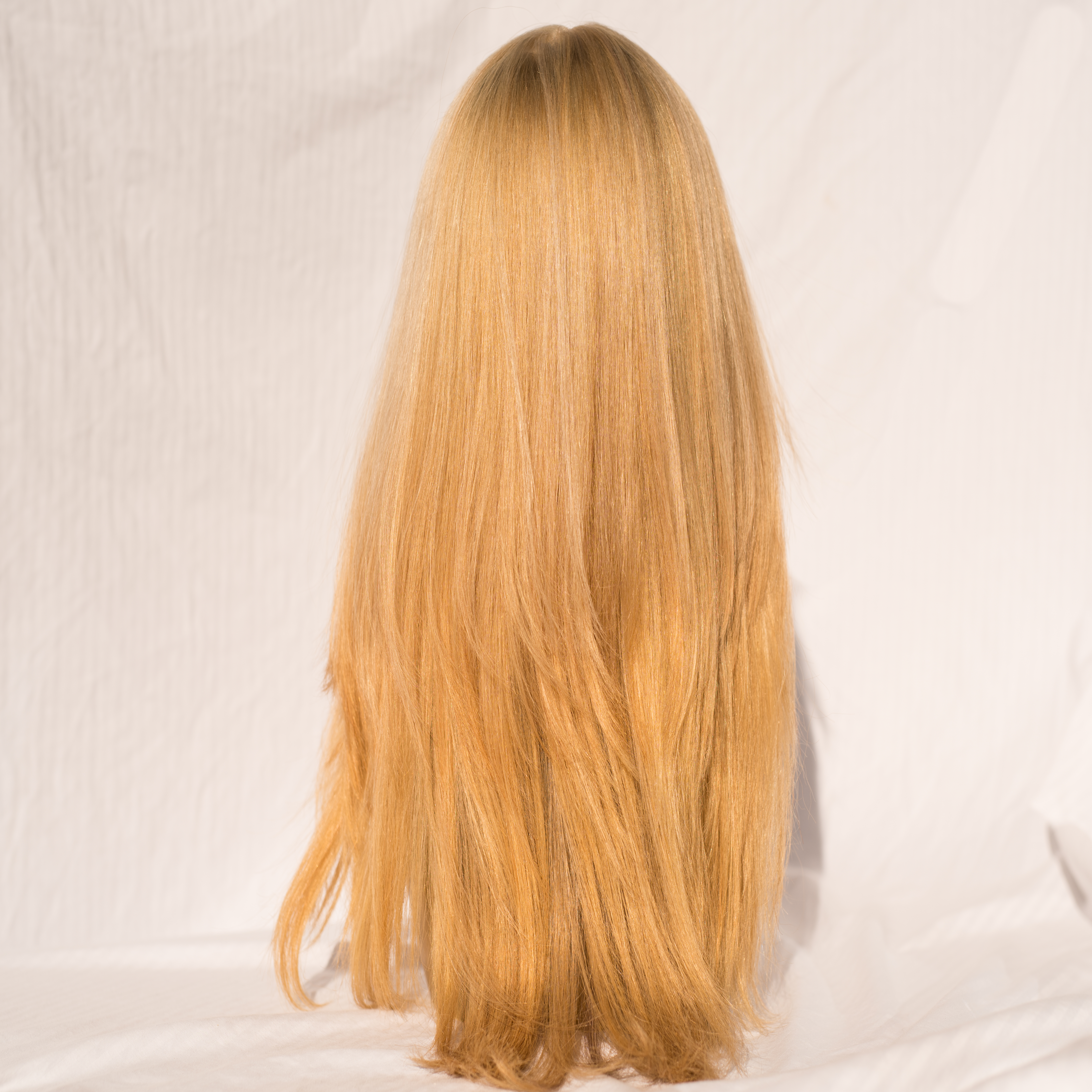 Wig Russian Virgin Remy Hair 23 Inches Color 2224 Wig Overruns