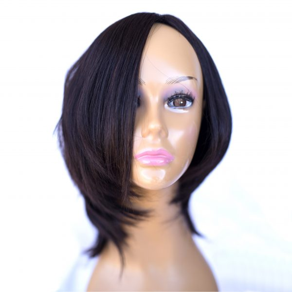 WIG European Processed Color 2B 10 Inch Length, Russian hair, southern Russian hair, Brazilian hair, south American hair, Asian hair, Malaysian hair, Cambodian hair, wigs, toppers, falls. pony tails, halos, hair extensions, 100% virgin remy cuticle intact hair, processed hair