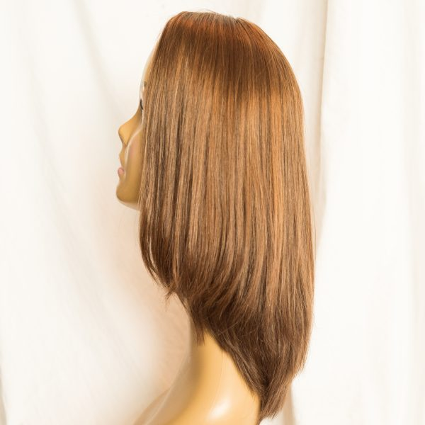 "WIG-EUROPEAN LENGTH 16"" SHORTEST LAYER 12"" COLOR 30-6-86 BACK, WIG-EUROPEAN PROCESSED CUTICLE INTACT REMY HAIR LENGTH 16"" SHORTEST LAYER 12"" COLOR 30-6-86"