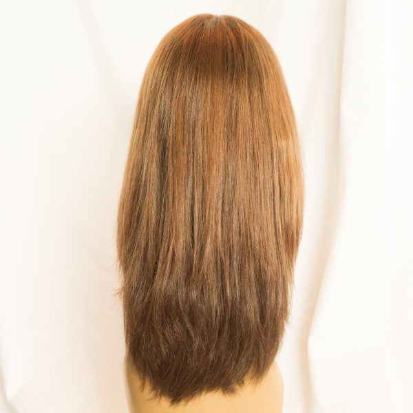 "WIG-EUROPEAN LENGTH 16"" SHORTEST LAYER 12"" COLOR 30-6-86 BACK, WIG-EUROPEAN PROCESSED CUTICLE INTACT REMY HAIR LENGTH 16"" SHORTEST LAYER 12"" COLOR 30-6-86 BACK"