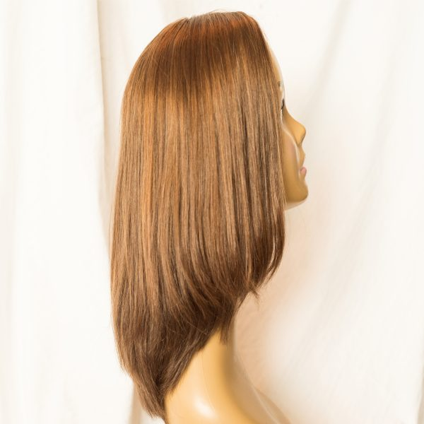 "WIG-EUROPEAN LENGTH 16"" SHORTEST LAYER 12"" COLOR 30-6-86 BACK, WIG-EUROPEAN PROCESSED CUTICLE INTACT REMY HAIR LENGTH 16"" SHORTEST LAYER 12"" COLOR 30-6-86 RIGHT VIEW"