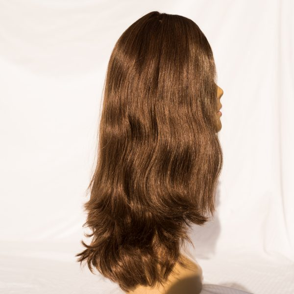 "WIG EUROPEAN REMY HAIR LENGTH 19"" COLOR 6 RIGHT LEFT VIEW"