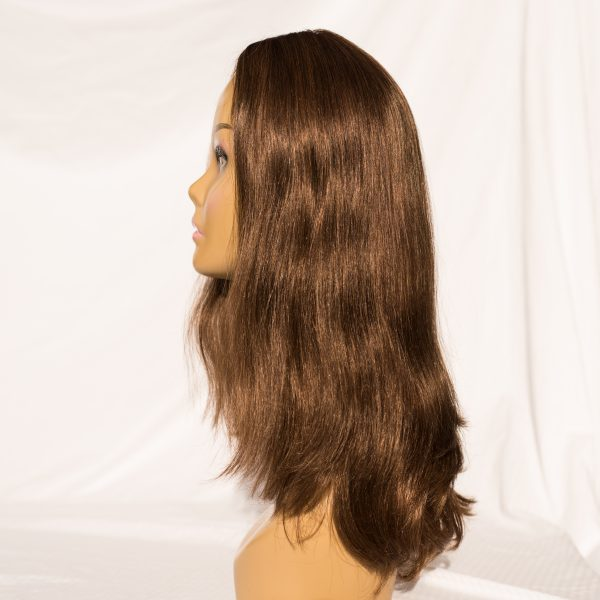 "WIG EUROPEAN REMY HAIR LENGTH 19"" COLOR 6 RIGHT SIDE VIEW"