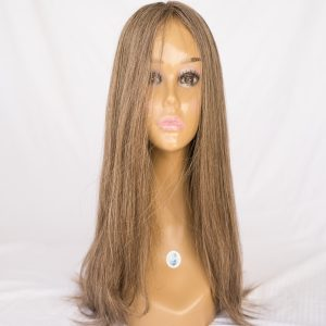 "WIG-RUSSIAN VIRGIN REMY LENGTH 24"" COLOR NATURAL GREY BLONDE RUSSIAN"